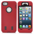 Protective Plastic + Silicone Detachable Back Case for iPhone 5 - Red + Black
