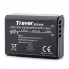 Travor LP-E10 Replacement 7.4V 860mAh Battery Pack for Canon 1100D - Black
