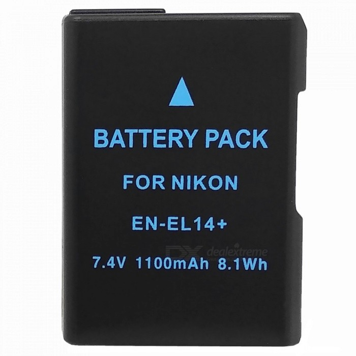 Fully Decoded 1030mAh  EN-EL14+ Li-ion Battery for Nikon D3100 / 3200 / D5100 / P7000 + More new view en el14 replacement 7 4v 1030mah rechargeable li ion battery for nikon p7000 black