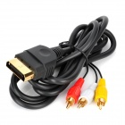 WM750-100 Gold Plated HDMI 19-Pin to 3-RCA AV Cable for XBOX Classic - Black (180cm)