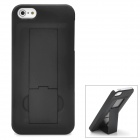 Protective Plastic Stand Case for Iphone 5 - Black