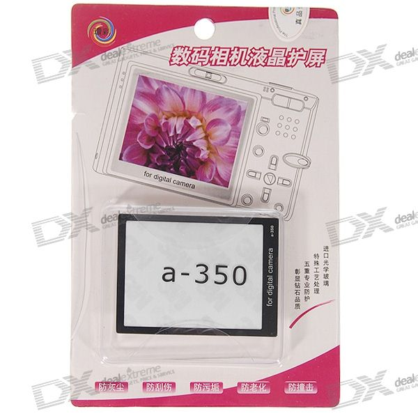 Professional Screen Protector for Sony Alpha A-350 Digital Camera