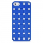 Cool Woven Hollow-out Grid Back Cover Case for Iphone 5 - Blue