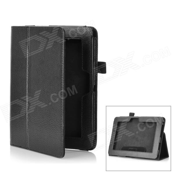 Protective PU + Microfiber Case for Kindle Fire HD 7 - Black