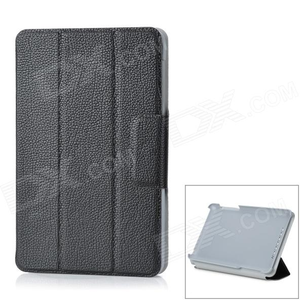 Protective PC + Microfiber Case for Google Nexus 7 - Black 360 degree rotating protective litchi pattern case w stand for google nexus 7 ii chocolate