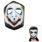Outdoor Sports Bloody Mouth Full Face Mask - Black + White