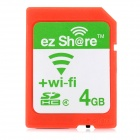 ez Share Wireless Transmission Wi-Fi SDHC Memory Card - Orange (4GB / Class 4)