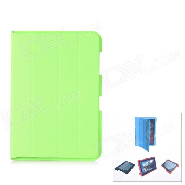 Protective PU Leather Case for Samsung Galaxy Note 10.1 N8000 - Green metal ring holder combo phone bag luxury shockproof case for samsung galaxy note 8