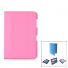 Protective PU Leather Case w/ Smart Cover for Samsung Galaxy Note 10.1 N8000 - Pink