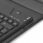 Rechargeable 81-Key Bluetooth v3.0 Keyboard PU Leather Case for Google Nexus 7 - Black