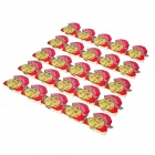 XZ-1001 Santa Claus Pattern Red Blue Light LED Badges - Red + Yellow (25 PCS / 3 x AG3)
