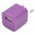 "Mini ""1000mA"" USB Power Adapter / Ladegerät - Purple (110 ~ 240V / EU Plug)"