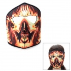 Outdoor Sports Stylish Flame Pattern Face Mask - Black + Yellow