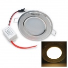 INHIDA 3W 3-LED 255LM 3500K Warm White LED Ceiling Lamp Down Light (85~265V)