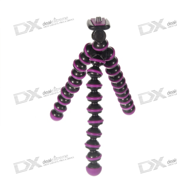 6.5-inch Flexible Desktop Digital Camera Tripod - Purple (275g Load Max)