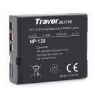 Travor NP-130 Replacement 3.7V 1800mAh Battery Pack for Casio EX-H35 / EX-ZR200 + More - Black