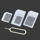 NANO SIM Card Adapter Set for Iphone 4 / 4S / 5 - White (3 PCS)