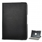 Lychee Protective Swivel Rotating PU Leather Case for Samsung Galaxy Note 10.1 N8000 - Black