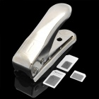 Nano SIM Card Cutter with 3 Adapters for iPhone 5 - Silver