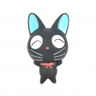 Cute Cartoon Cat Figure Doll Toy w/ Suction Cup - Black