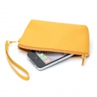 Simple Practical PU Wallet Purse - Yellow