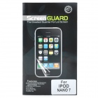 Glossy Screen Protector Guard for Ipod Nano 7 - Transparent White (5 PCS)
