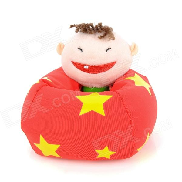 Cute Boy Figure Doll Design Foam Particles Filling Cell Phone Holder - Red от DX.com INT