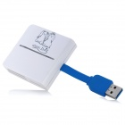 US3-01 USB 3.0 SD / TF / CF / MS / M2 / XD Card Reader - White