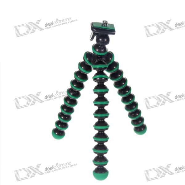 6.5-inch Flexible Desktop Digital Camera Tripod - Green (275g Load Max)