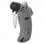 Dolphin Shaped Stainless Steel + Plastic Windproof Butane Gas Lighter - Silver + Grey