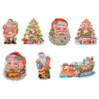 Magic 3D Christmas Wall Sticker - Multicolor (7 PCS)