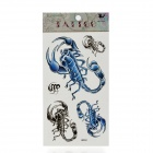 Fashion Scorpion Style Paper Tattoo Sticker - Blue + Black
