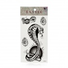 Fashion Snake Style Paper Tattoo Sticker - Black