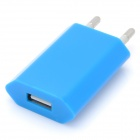 Mini 600mA USB Power Adapter / Charger - Blue (100~240V / EU Plug)