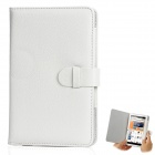 "Universal Lychee Pattern Protective PU Leather Case for 7"" Tablet PC - White"