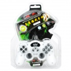 USB Dual-Shock Wired Controller para PC - branco + preto