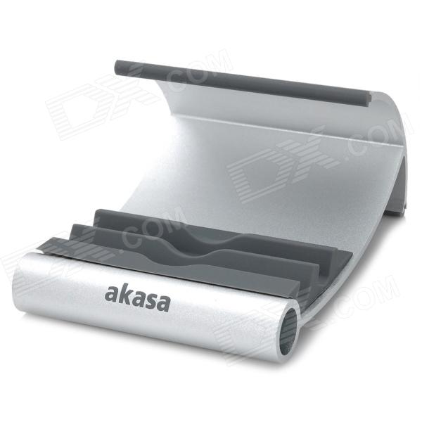 Akasa AK-NC054-GR Aluminum Alloy + Silicone Stand for Ipad - SilverMounts and Stands<br>Model:Material:Form  ColorGoldenQuantity:Compatible SizeOthersMount TypeDesktopPacking List<br>