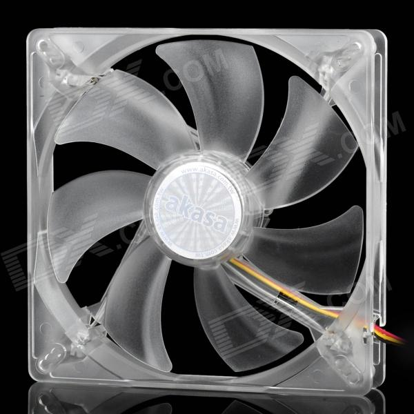 Akasa AK-FN075 Quiet PC Case Brushless Fan for 13cm / 13.5cm / 14cm w/ 4 LED Indicator - Transparent del 60mm pc cpu cooling fan 12v 3 pin computer case cooler quiet molex connector mar09