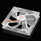 Akasa AK-FN075 Quiet PC Case Brushless Fan for 13cm / 13.5cm / 14cm w/ 4 LED Indicator - Transparent