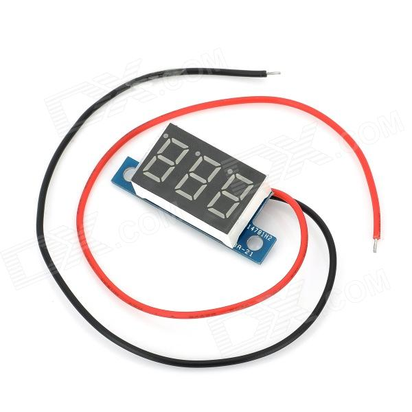 3-Digit Blue LED Digital Voltmeter Meter Module (3.3~17V) c20d 3 digit 0 56 blue led digital ammeter meter module black green