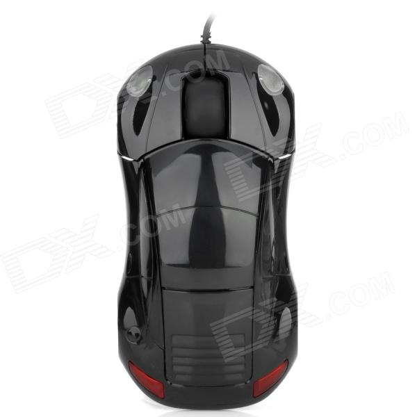 Minicute Driftx Sports Car Style 1000DPI 8MB Keystrokes USB Wired Optical Mouse - Black от DX.com INT