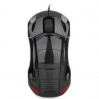 Minicute Driftx Sports Car Style 1000DPI 8MB Keystrokes USB Wired Optical Mouse - Black