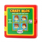 CB502 Plastic 4-Face Painting Funny Face Puzzle Crazy Blox - Colorful