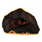Bending Eye Pumpkin Pattern Flannel + Non-Woven Cap - Orange