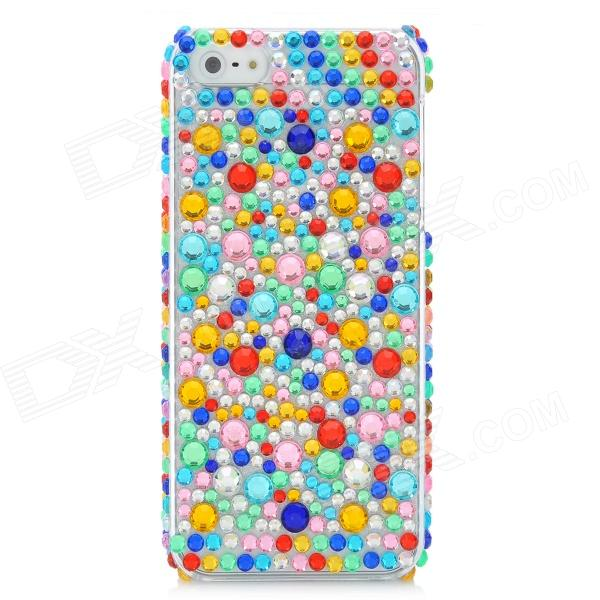 Protective Acrylic Diamond Plastic Back Case for Iphone 5 - Multi-ColoredPlastic Cases<br>Quantity: 1 - Color: Multi-colored - Material: Plastic - Acrylic diamond - Compatible models: Iphone 5 - Protects your phone from scratching dust and shocks - Personalize your phone with this case - Unique design for Iphone 5 easy to operate - Packing list: - 1 x Case<br>