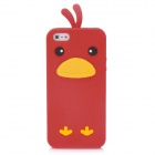 Cute Cartoon Chicken Style Protective Silicone Back Case for Iphone 5 - Red
