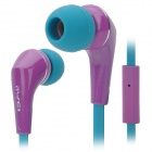 Awei Q7i In-Ear Earphone w/ Microphone for iPhone / iPad - Blue + Purple (3.5mm Plug / 120cm)
