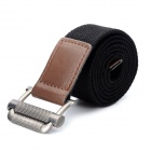 Fashion Canvas Waist Belt - Black