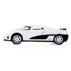 Multifunction Aluminum Alloy Pull Back Car Toy - White (3 x LR1130)