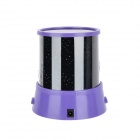 Romantic Star Projector Light w/ 12 Months Rotation + Music - Purple + Black (3 x AA)
